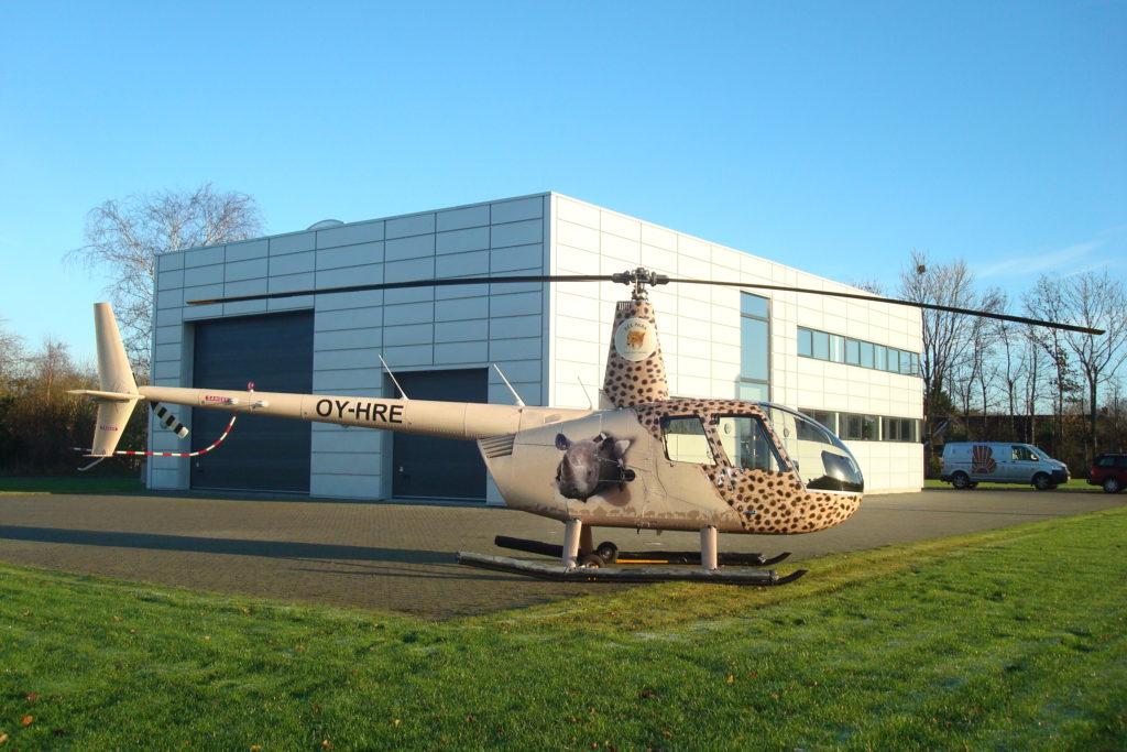 Vores hus og helikopteren fra Ree Park