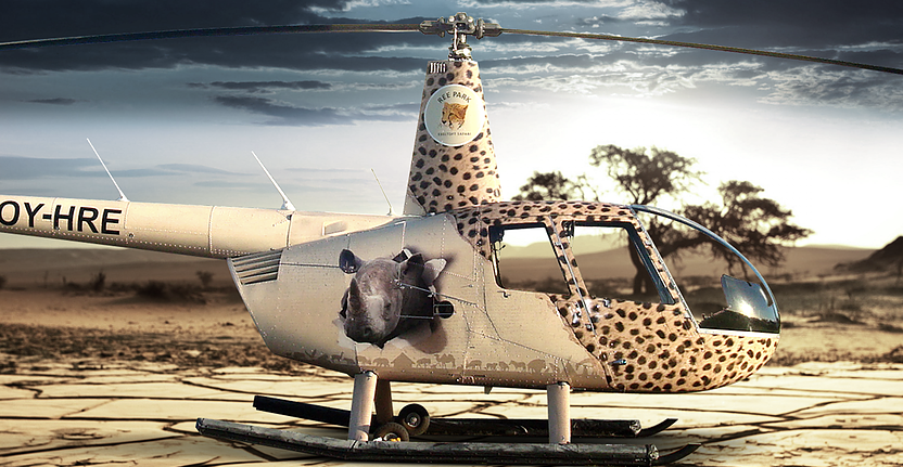 Fuld foliering af helikopter for Ree Park